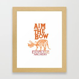 "AIM THE BOW - EXTINCT""IVE"" ARCHERY / 70s RETRO Framed Art Print"