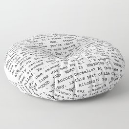 Skinner and the superindentent Chalmers Floor Pillow