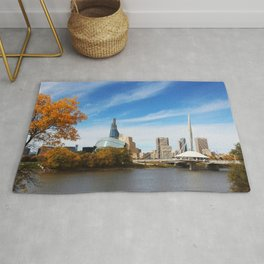 Downtown Winnipeg 2 Picture Panorama Rug