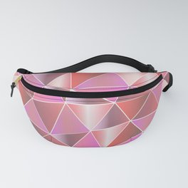Abstract pink lilac white geometric triangles Fanny Pack