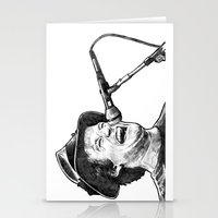 robin williams Stationery Cards featuring williams by BzPortraits