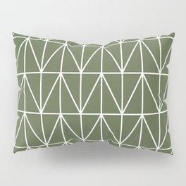 CHEVRON TRIANGLES - OLIVE Pillow Sham