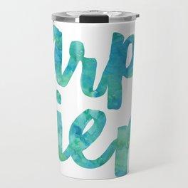 Carpe Diem Watercolor Travel Mug