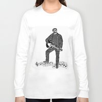 rock n roll Long Sleeve T-shirts featuring Rock 'N' Roll by The Curly Whirl Girly.