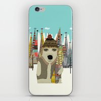 snowboard iPhone & iPod Skins featuring murphy by bri.buckley