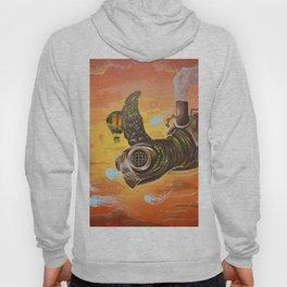 flying  steampunk turtle Hoody