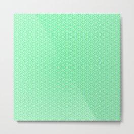 Mint Green Abstract IX Metal Print