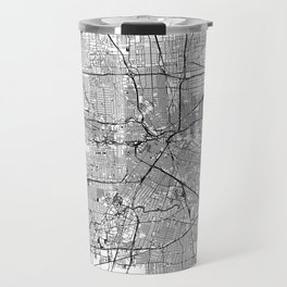 Houston White Map Travel Mug