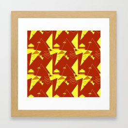 Triangle Tango Framed Art Print