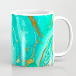 Geode 52 Gold Stone Slab Coffee Mug
