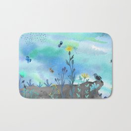 Blue Garden I Bath Mat