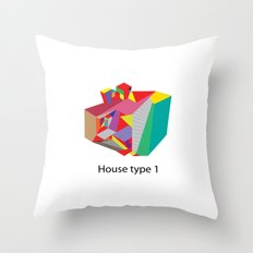 House Type 1 Throw Pillow