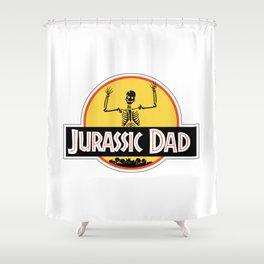 Jurassic Dad Dinosaur Skeleton Funny Birthday Gift 2 Shower Curtain