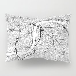 London White Map Pillow Sham