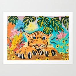 Hermosa Tigre  Art Print