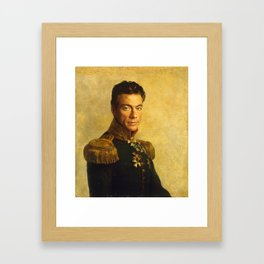 Jean Claude Van Damme - replaceface Framed Art Print
