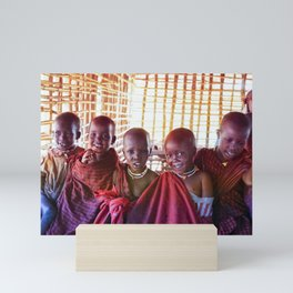 4239 Portrait of Young Maasai Children Mini Art Print