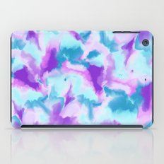 Abstract turquoise purple hand painted watercolor iPad Case