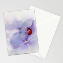 Ldybird on purple hydrangea Stationery Cards