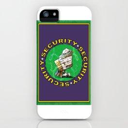 Blanket & Bear Security iPhone Case