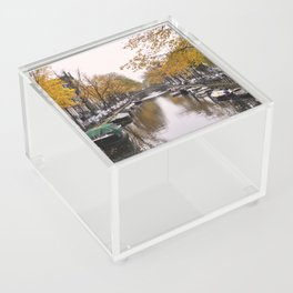 Autumn on Amsterdam's canals Acrylic Box
