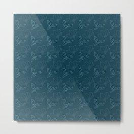 Holy Berries on Blue Metal Print