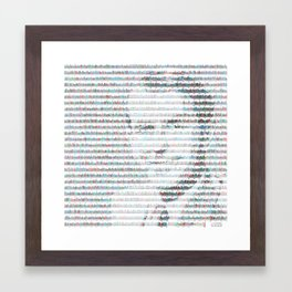 Fred Sanger in insulin gene DNA sequence Framed Art Print