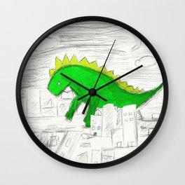 The Green Dino Wall Clock
