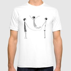 Flappers playing jump rope White Mens Fitted Tee MEDIUM