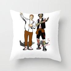 Bill & Dead Throw Pillow