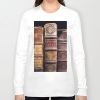 library Long Sleeve T-shirts featuring Library by Mad Marys