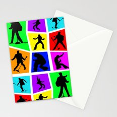 The King Color Tile Silhouette Stationery Cards