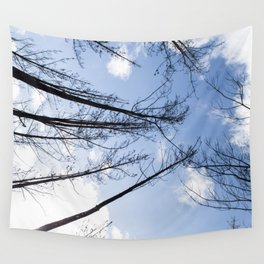 Slanted trees Wall Tapestry