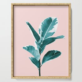 Ficus Elastica Finesse #2 #tropical #foliage #decor #art #society6 Serving Tray