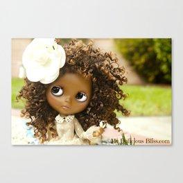 My Delicious Bliss Beautiful Brown Custom Blythe Art Dolls Canvas Print