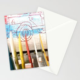 Bali surfboards Stationery Cards