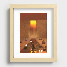Chocolate Waterfall Bunny Boat Recessed Framed Print