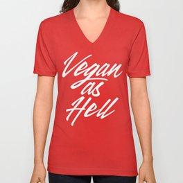Vegan as Hell Unisex V-Neck