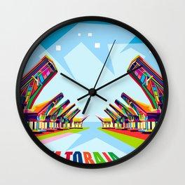 Toraja Land In Pop Art Wall Clock