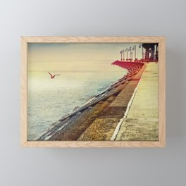 Breakwater on Lake Ponchartrain Framed Mini Art Print