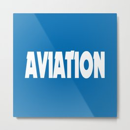Aviation Metal Print