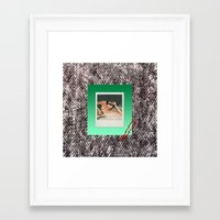 punk Framed Art Prints featuring PUNK by MODERN UNDERGROUND