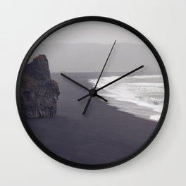Black beach Wall Clock