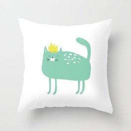 Princess Kitty Winkle Throw Pillow