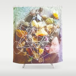 backyard stones Shower Curtain