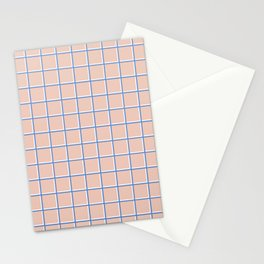 MINIMAL GRID PINK Stationery Cards