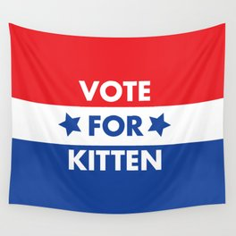 Vote For Kitten Wall Tapestry