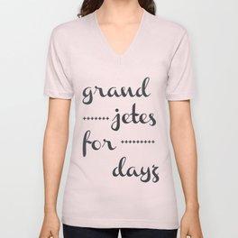 Grand Jetes Unisex V-Neck