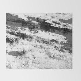 Perseverance Black & White Throw Blanket