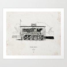 Tigre Delta: Castrol Art Print